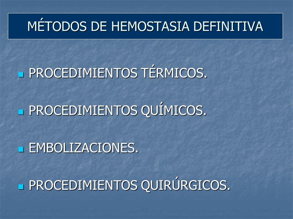 Método: desnaturalización de las proteínas, retracción del colágeno y edema de tejido circundante.