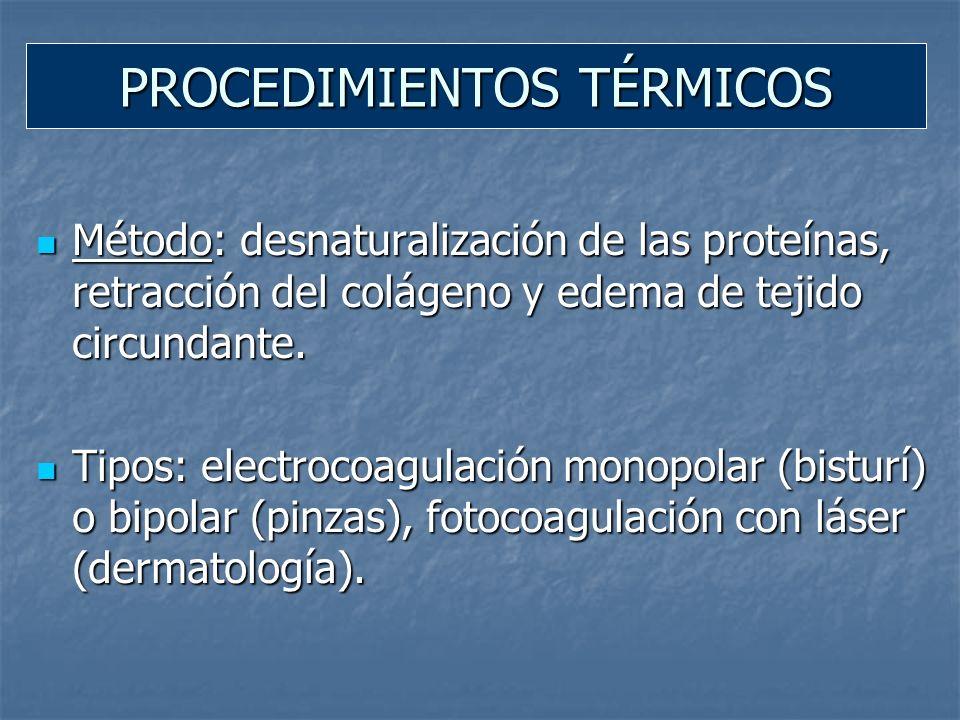 Método: inyección de sustancias esclerosantes (tromboflebitis) o vasoconstrictoras.