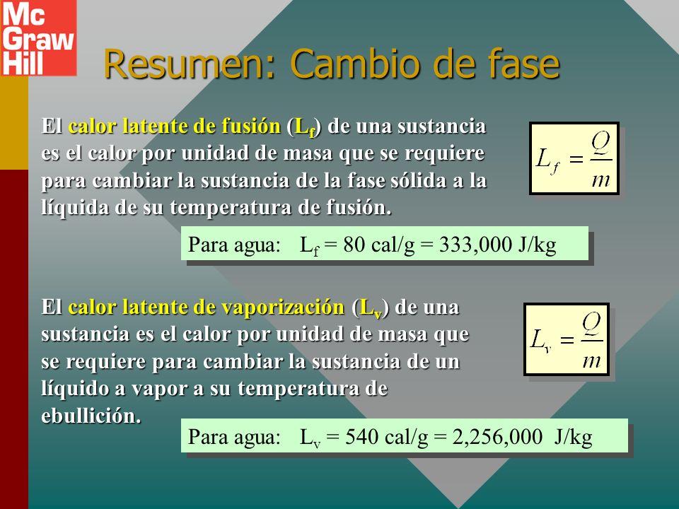 Resumen de unidades de calor Una caloría (1 cal) es la cantidad de calor que se requiere para elevar la temperatura de 1 g de agua en 1 C 0. Una kiloc