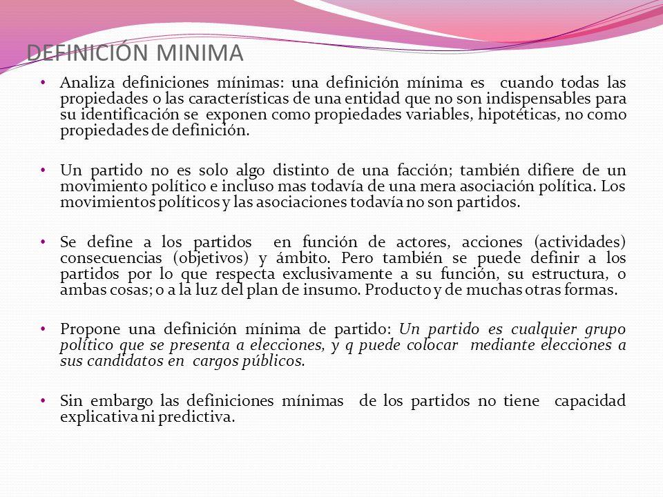 DEFINICIÓN MINIMA Analiza definiciones mínimas: una definición mínima es cuando todas las propiedades o las características de una entidad que no son