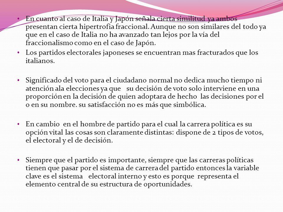En cuanto al caso de Italia y Japón señala cierta similitud ya ambos presentan cierta hipertrofia fraccional. Aunque no son similares del todo ya que