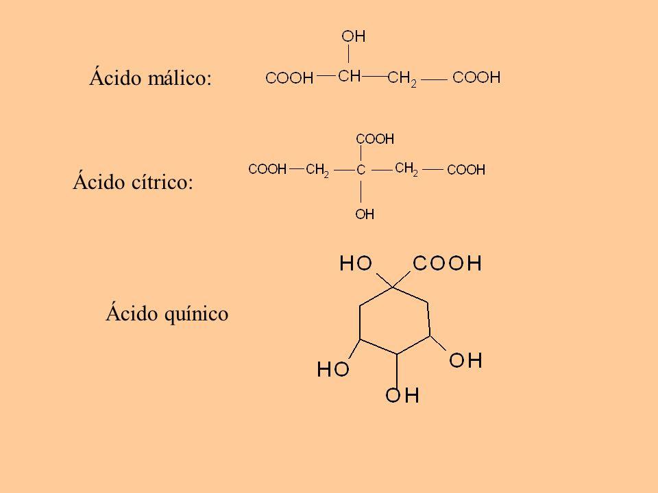 Ácidos fenólicos (hidroxicinámicos) - Se encuentran en forma de ésteres, p.e.