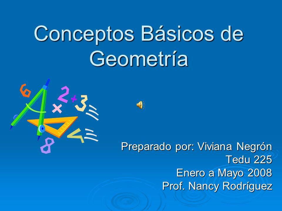 Conceptos Básicos de Geometría Preparado por: Viviana Negrón Tedu 225 Enero a Mayo 2008 Prof.