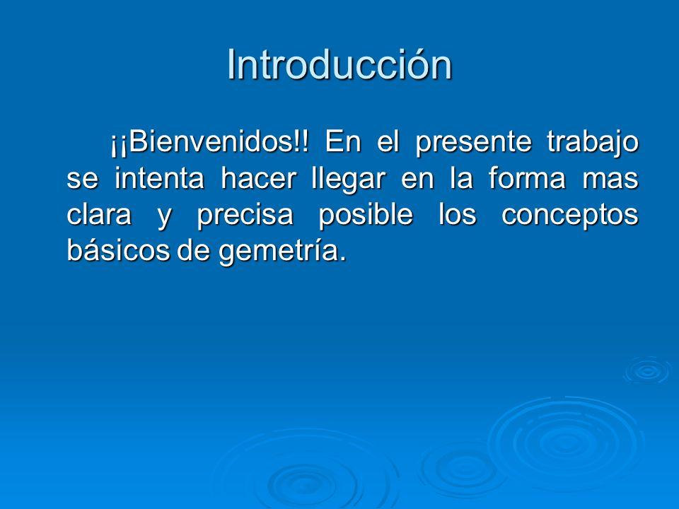 Introducción ¡¡Bienvenidos!.