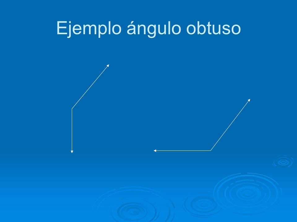 Angulo Obtuso Es aquel cuya amplitud es mayor que la del ángulo recto y menor que la del llano, es decir, está comprendida entre 90º y 180º.