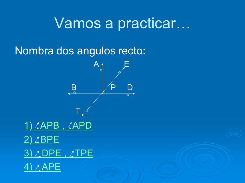 Angulo Llano Es el ángulo formado por dos semirrectas opuestas. Tiene sus lados en la misma recta. Su amplitud es la mitad de un ángulo completo, es d