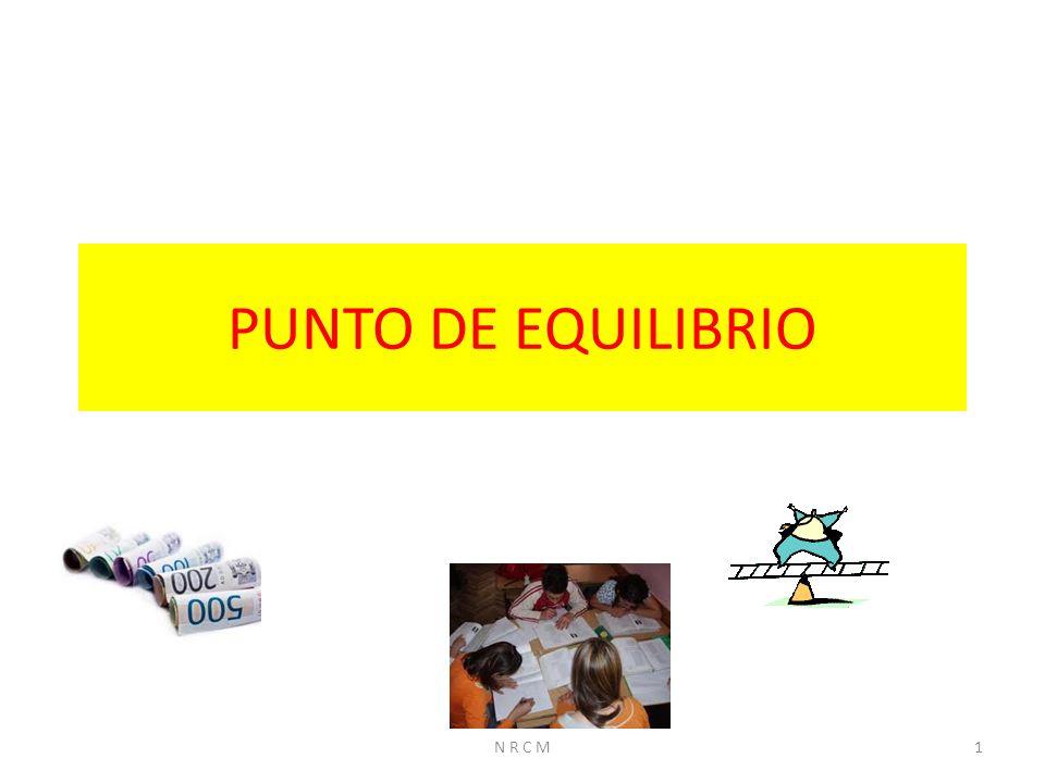 PUNTO DE EQUILIBRIO 1N R C M