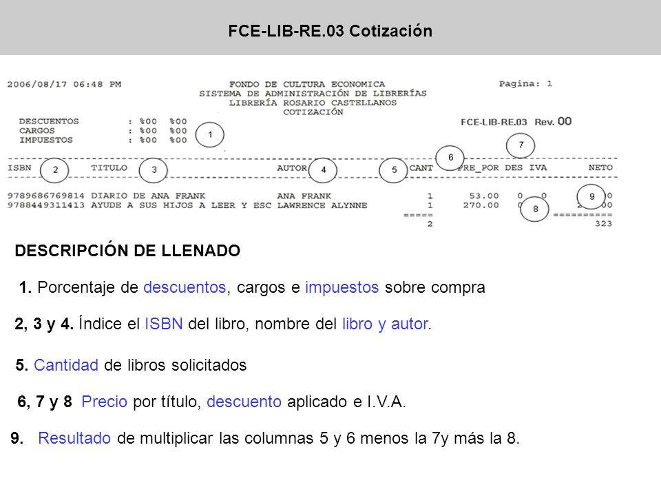FCE-LIB-RE.11 VALE FONDO DE MORRALLA 1.Nombre de librería entrega 2.