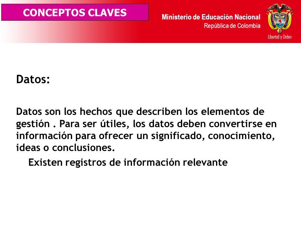 Ministerio de Educación Nacional República de Colombia Están constituidas por pautas, métodos, procedimientos, reglas formas y prácticas administrativ