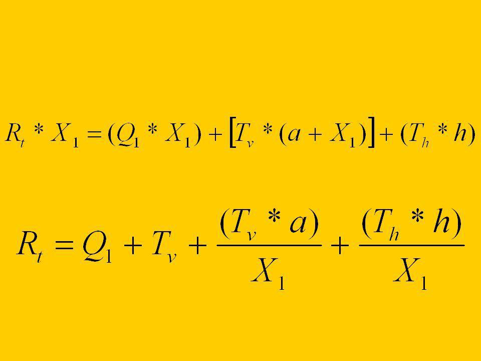 El peso dinámico (R t ) (Q A ) Es DIRECTAMENTE proporcional al peso estático Q 1 al tiro (T v y T h ) al largo de la barra de tiro (a) a la altura de la barra de tiro (h).