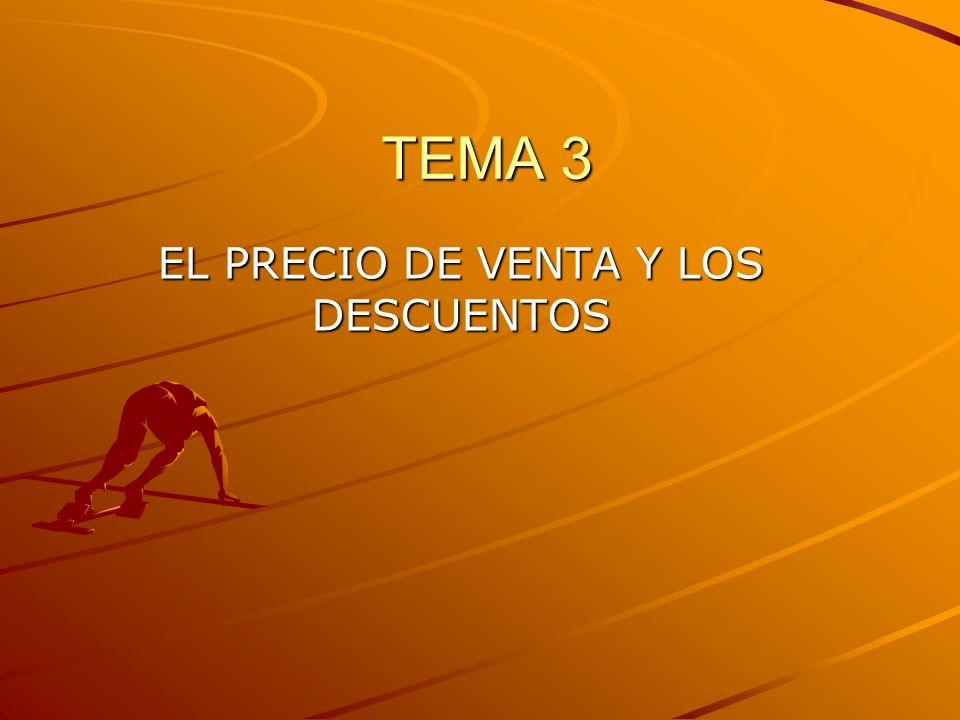 TEMA 3 EL PRECIO DE VENTA Y LOS DESCUENTOS