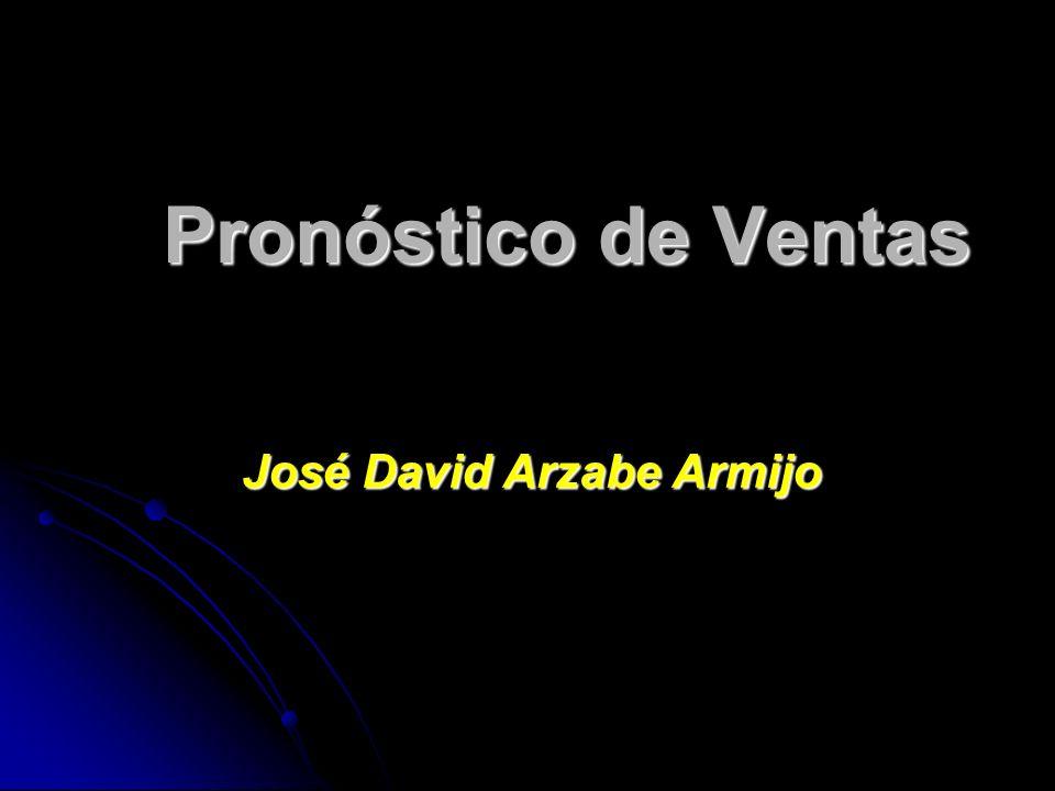 Pronóstico de Ventas José David Arzabe Armijo