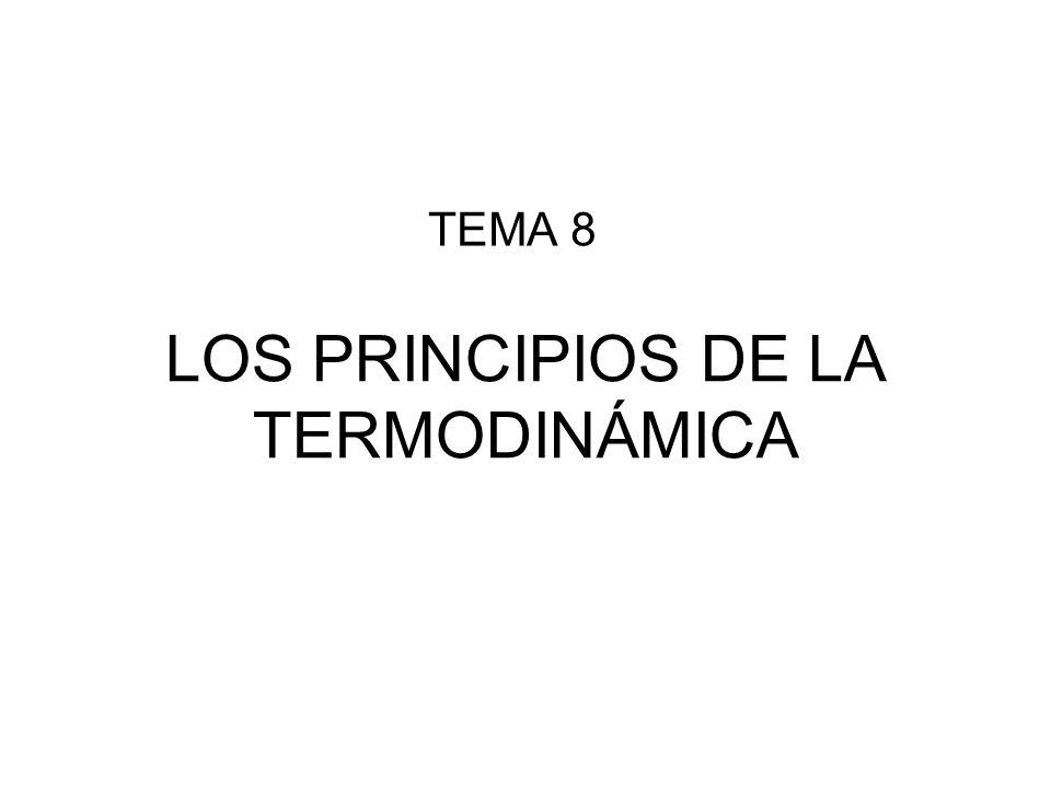 LOS PRINCIPIOS DE LA TERMODINÁMICA TEMA 8