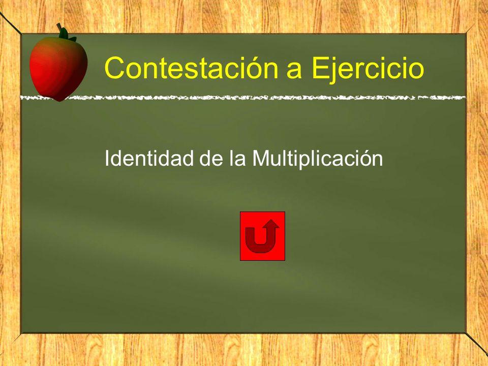 Contestación a Ejercicio Identidad de la Multiplicación