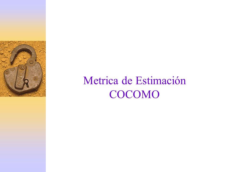 Metrica de Estimación COCOMO