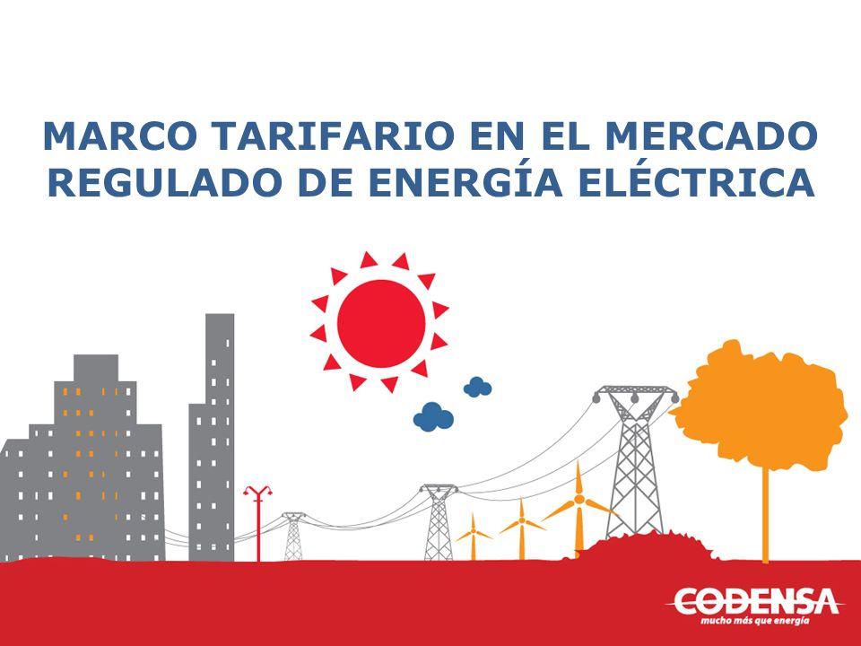 MARCO TARIFARIO EN EL MERCADO REGULADO DE ENERGÍA ELÉCTRICA