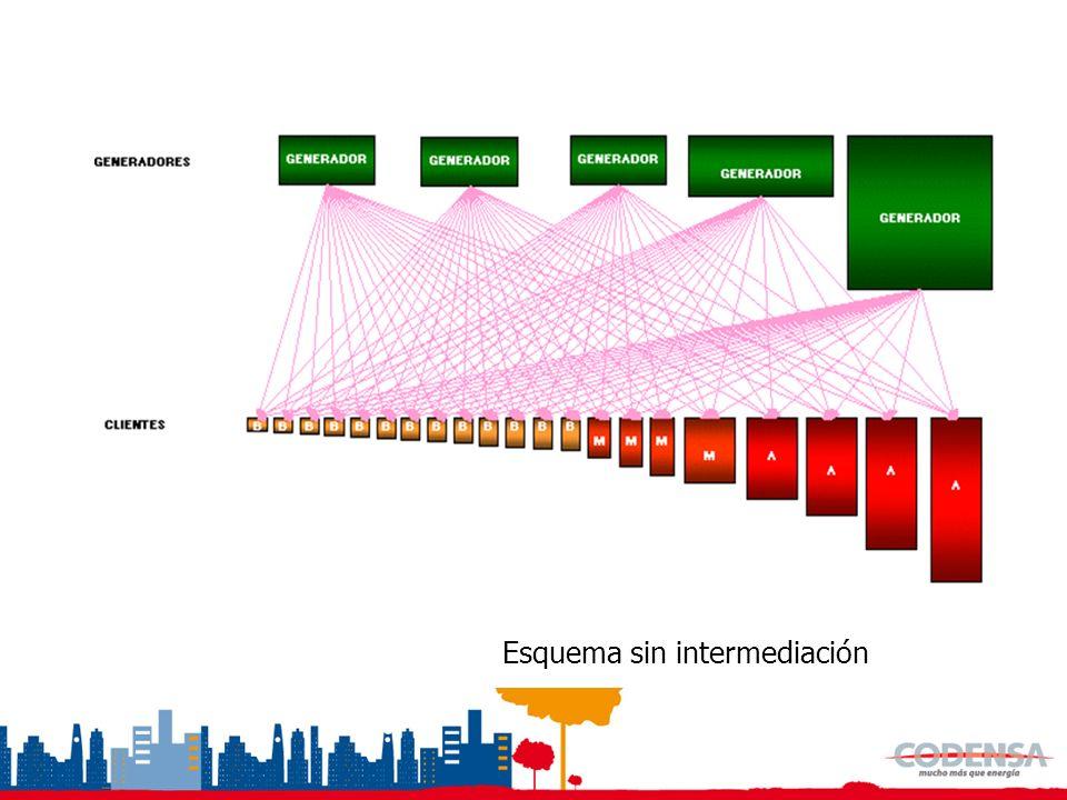 Esquema con Intermediación Definición negocio de comercialización COMERCIALIZADOR
