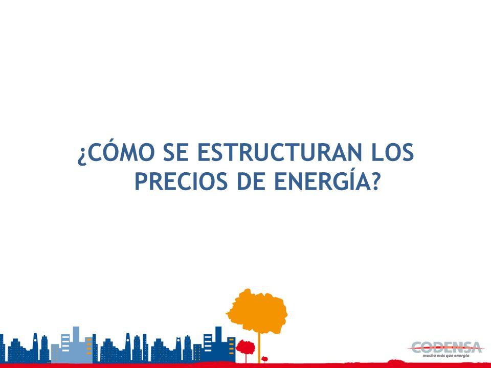 ¿CÓMO SE ESTRUCTURAN LOS PRECIOS DE ENERGÍA?