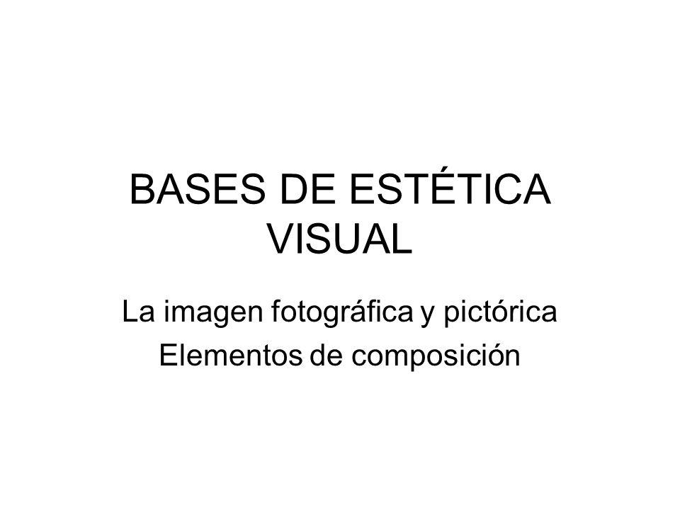 BASES DE ESTÉTICA VISUAL La imagen fotográfica y pictórica Elementos de composición