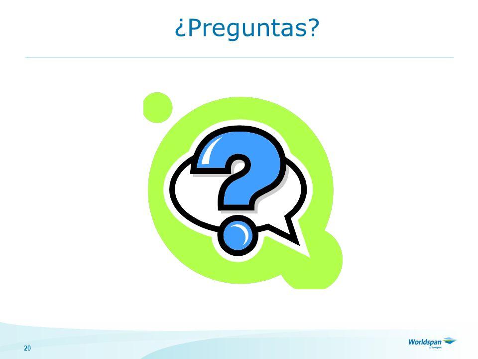 20 ¿Preguntas?
