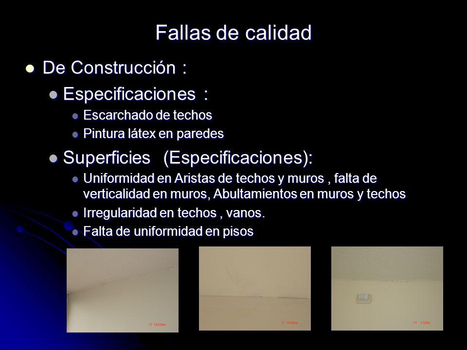 De Construcción : De Construcción : Especificaciones : Especificaciones : Escarchado de techos Escarchado de techos Pintura látex en paredes Pintura l