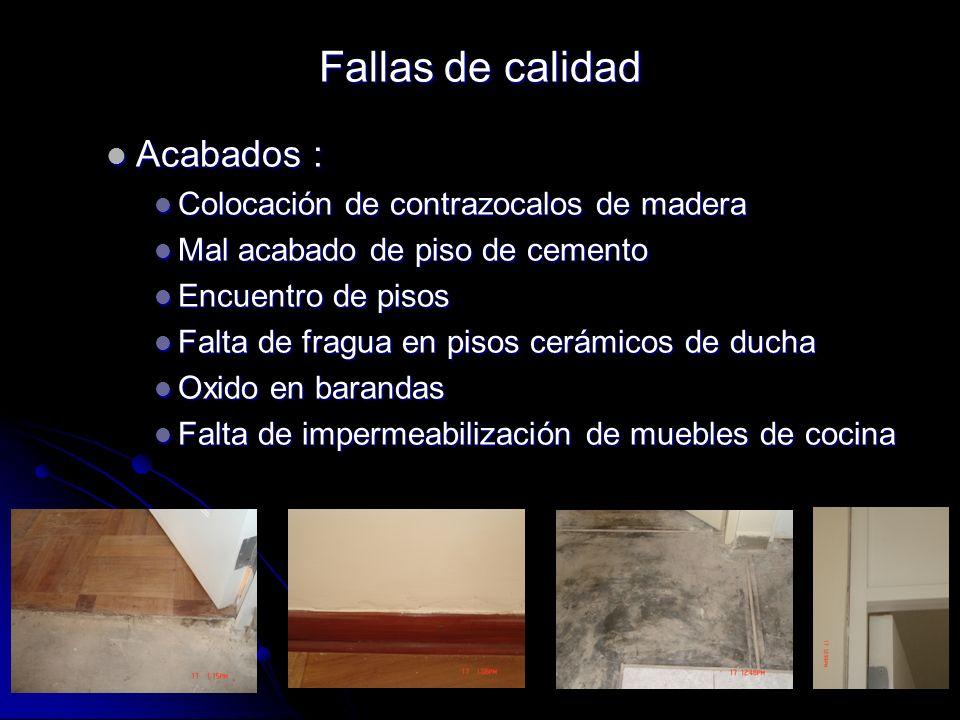 Acabados : Acabados : Colocación de contrazocalos de madera Colocación de contrazocalos de madera Mal acabado de piso de cemento Mal acabado de piso d