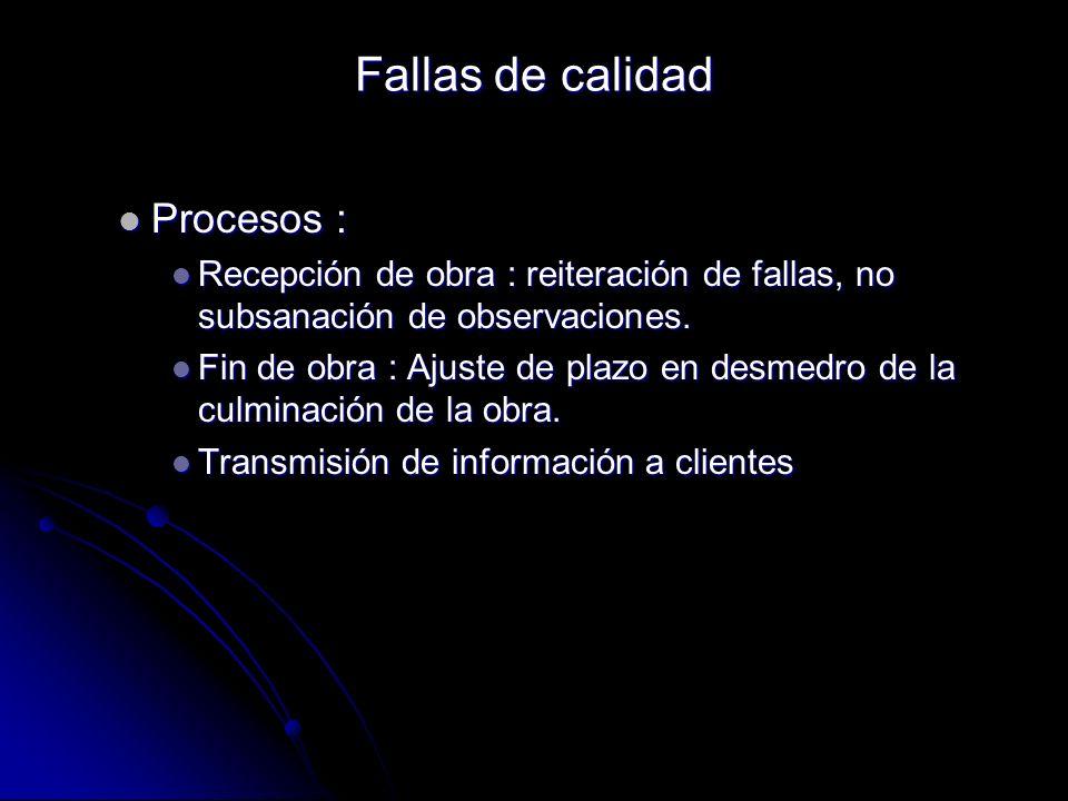Procesos : Procesos : Recepción de obra : reiteración de fallas, no subsanación de observaciones. Recepción de obra : reiteración de fallas, no subsan