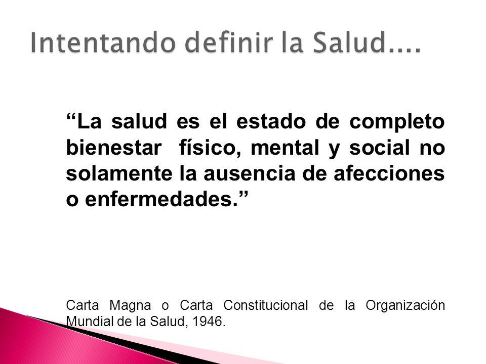 La salud es el estado de adaptación al medio y la capacidad de funcionar en las mejores condiciones en dicho medio (Dubos, 1959)