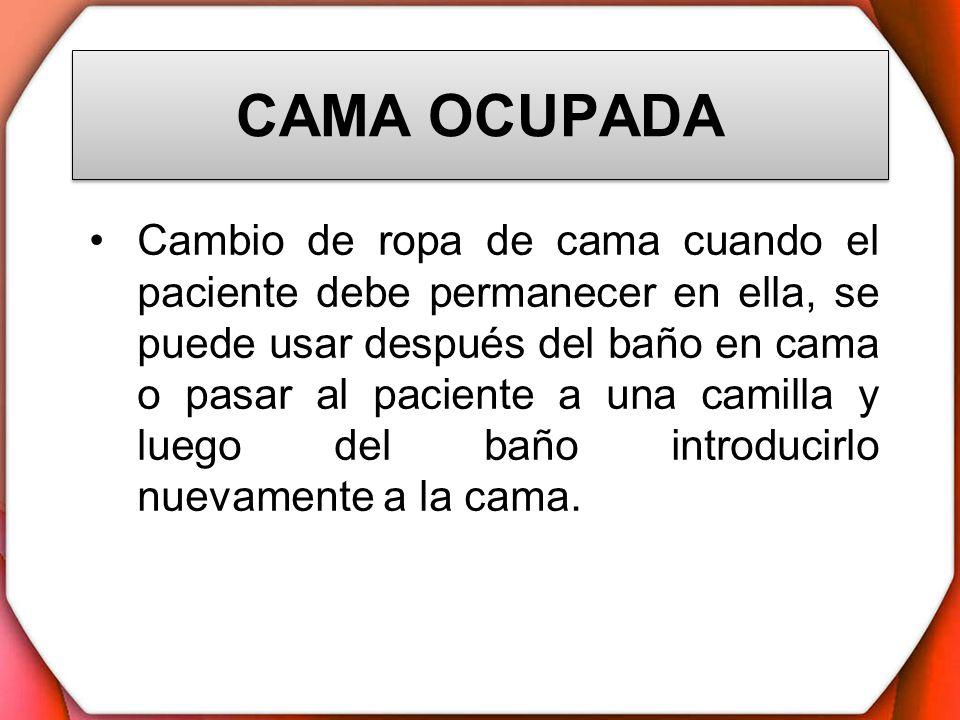 Baño General Del Paciente En Cama: en ella, se puede usar después del baño en cama o pasar al paciente