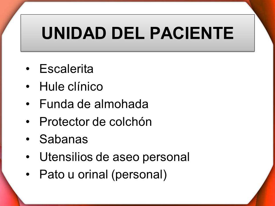OBJETIVOS Tener lista la cama para recibir al paciente Tener en cuenta la valoración física y los datos del paciente para asignarle la unidad apropiada Darle seguridad, bienestar y comodidad al paciente