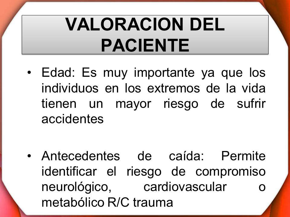 VALORACION DEL PACIENTE Ingreso en postoperatorio bajo efectos de anestesia: Los anestésicos producen efectos de somnolencia, debilidad muscular, inconciencia, que son fundamentales a tener en cuenta en la valoración del paciente y en el arreglo de la unidad correspondiente