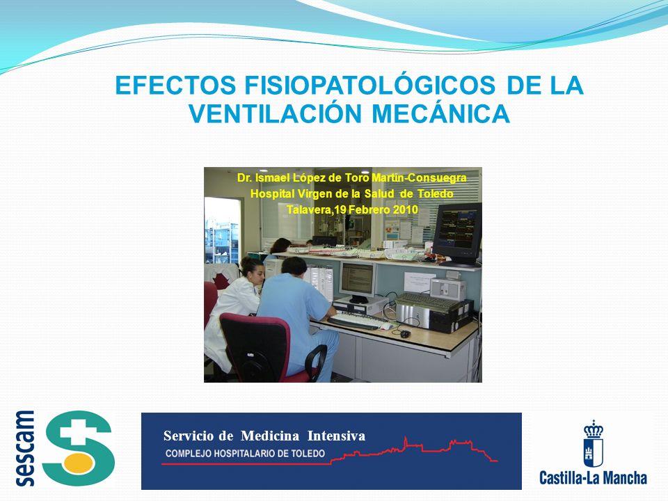 Efectos respiratorios: barotrauma- volutrauma Barotrauma: Daño pulmonar inducido por presión excesiva en la vía aérea