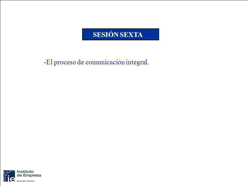 -El proceso de comunicación integral. SESIÓN SEXTA