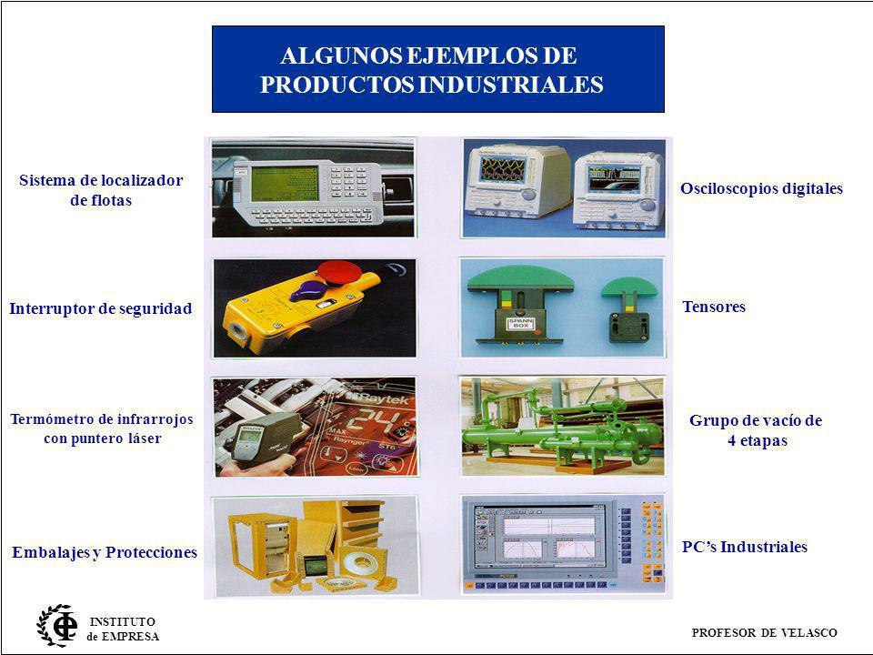 PROFESOR DE VELASCO INSTITUTO de EMPRESA ALGUNOS EJEMPLOS DE PRODUCTOS INDUSTRIALES Sistema de localizador de flotas Interruptor de seguridad Termómet