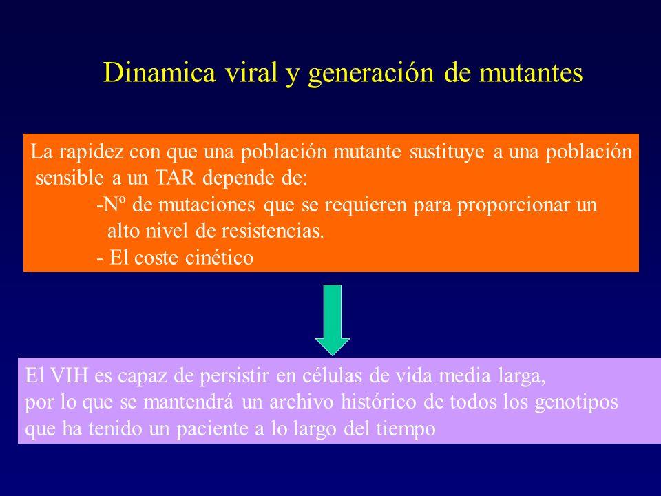El VIH es capaz de persistir en células de vida media larga, por lo que se mantendrá un archivo histórico de todos los genotipos que ha tenido un paci
