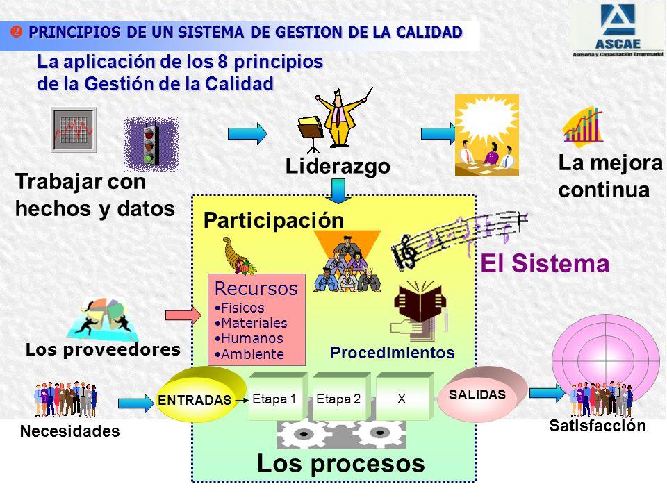 7. Enfoque basado en hechos para la toma de decisión 4. Enfoque basado en procesos 3. Participación del personal 1. Enfoque al cliente 2. Liderazgo 6.