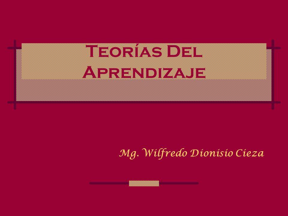 Teorías Del Aprendizaje Mg. Wilfredo Dionisio Cieza
