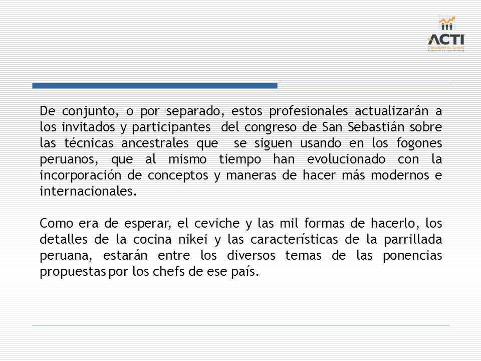 De conjunto, o por separado, estos profesionales actualizarán a los invitados y participantes del congreso de San Sebastián sobre las técnicas ancestr