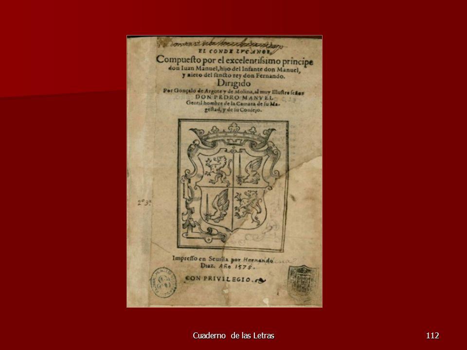 Cuaderno de las Letras112