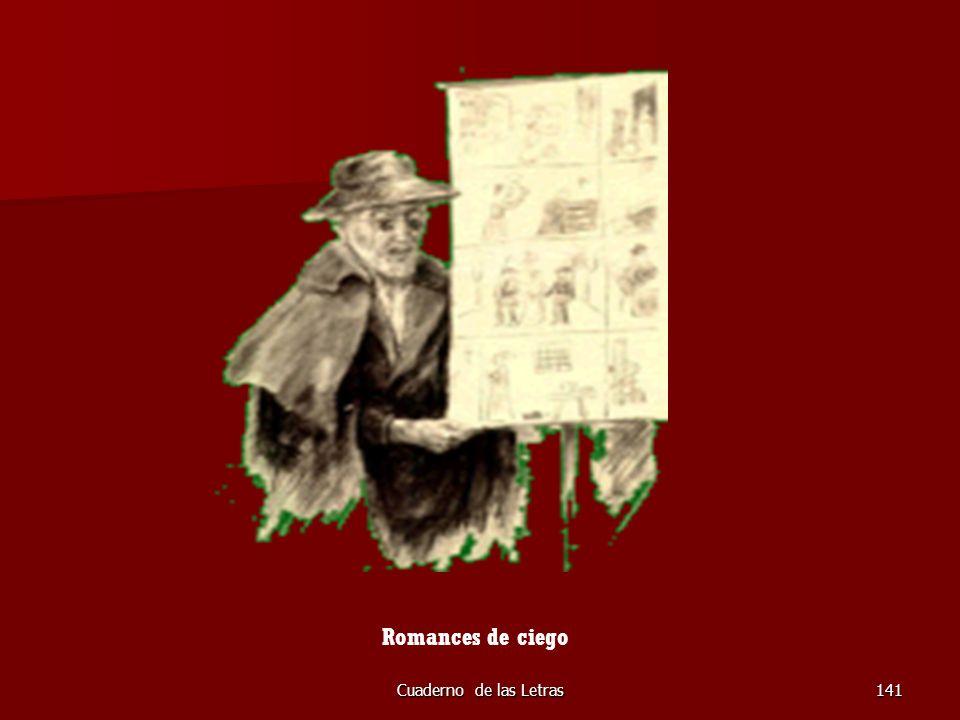 Cuaderno de las Letras141 Romances de ciego