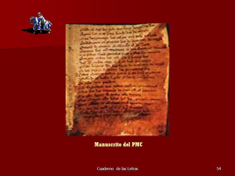 Cuaderno de las Letras54 Manuscrito del PMC