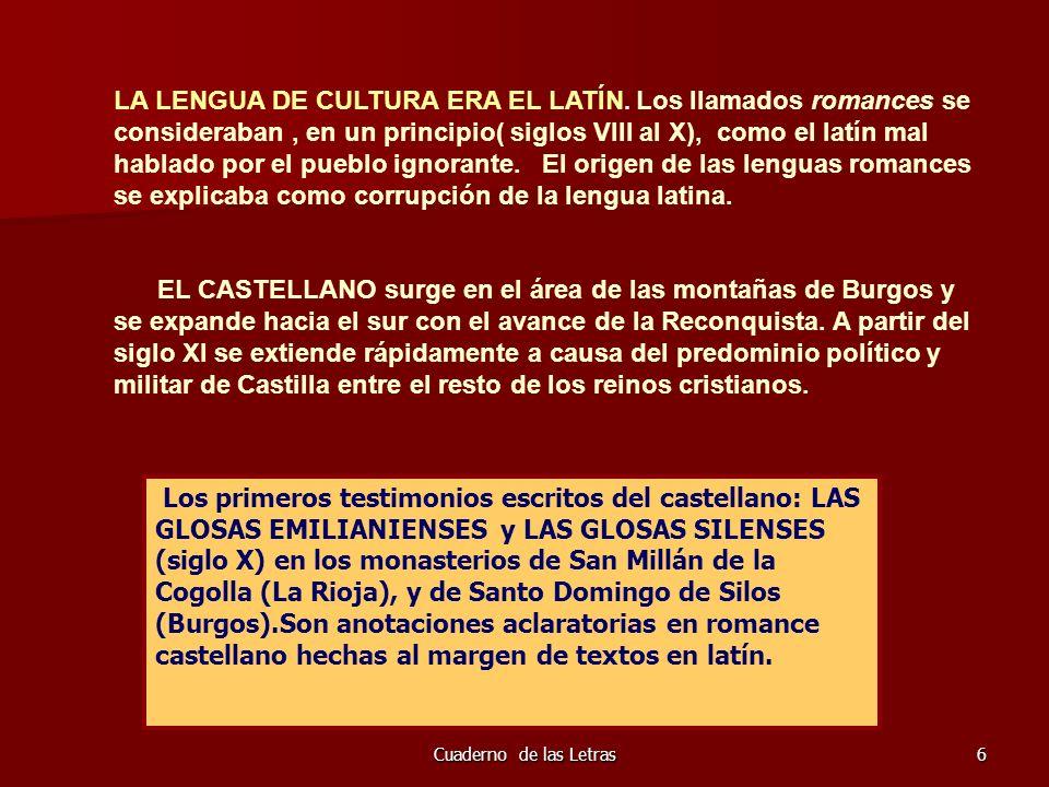 Cuaderno de las Letras47 ÉPICA CASTELLANA: EL POEMA DE MÍO CID La primera gran obra de la Literatura Española, pertenece al género de la poesía épica y al Mester de Juglaría.