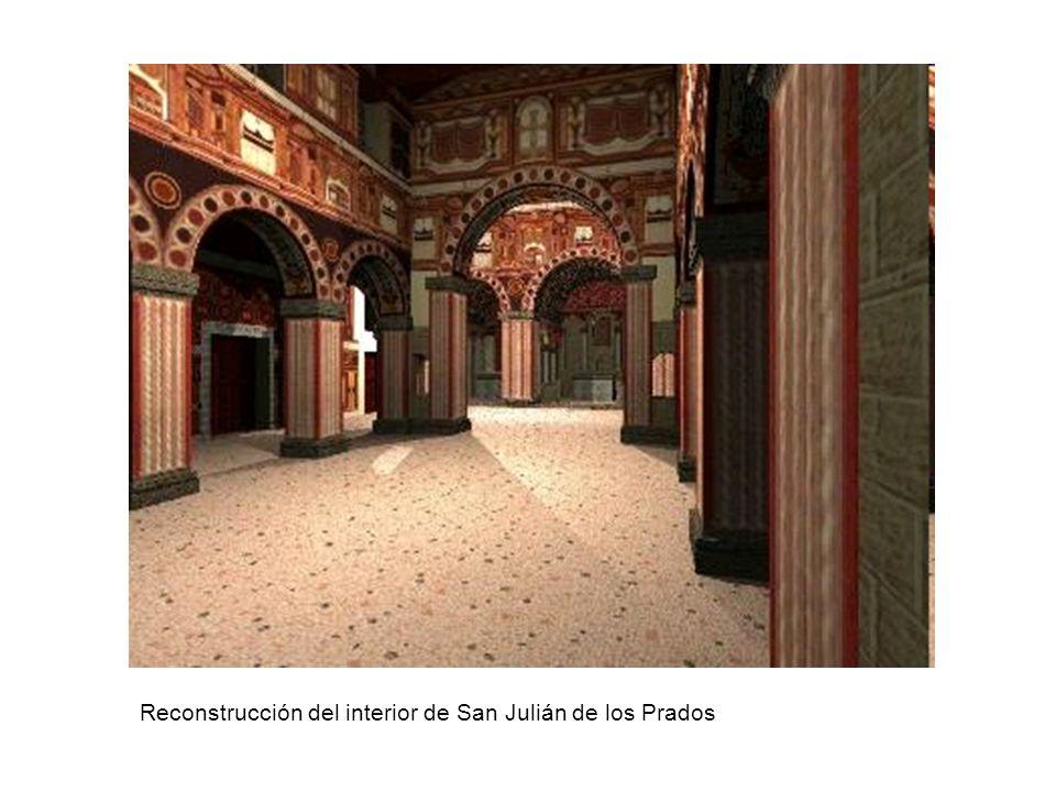 Reconstrucción del interior de San Julián de los Prados