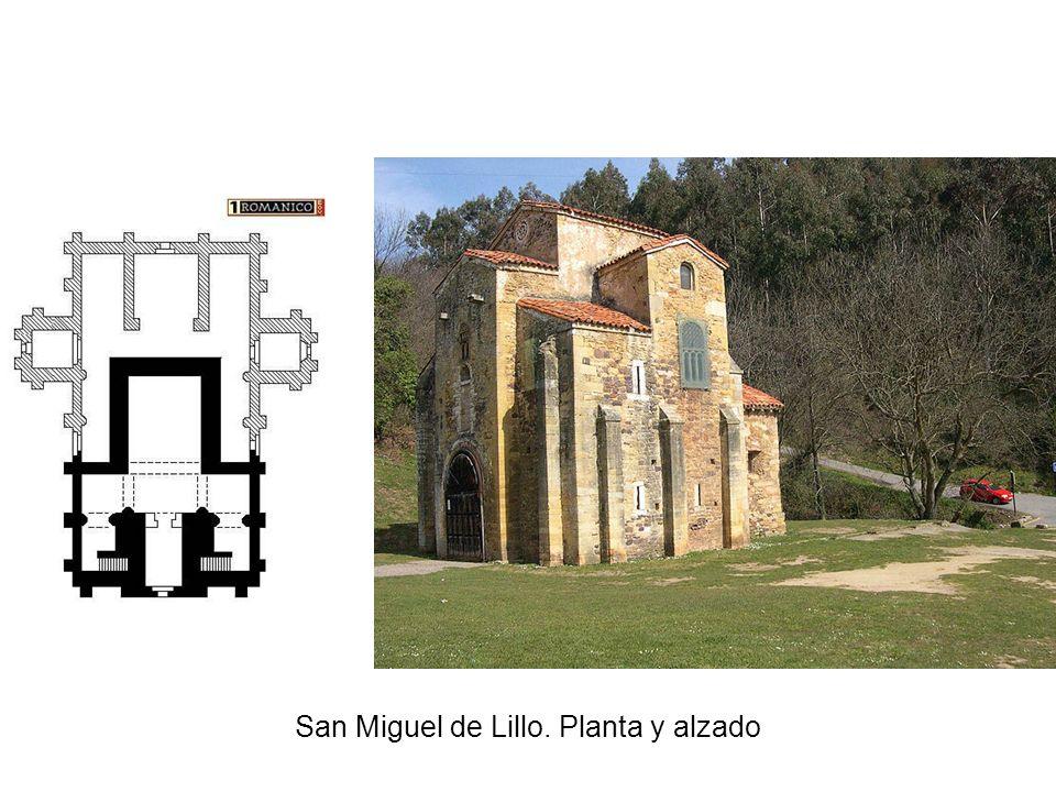 San Miguel de Lillo. Planta y alzado