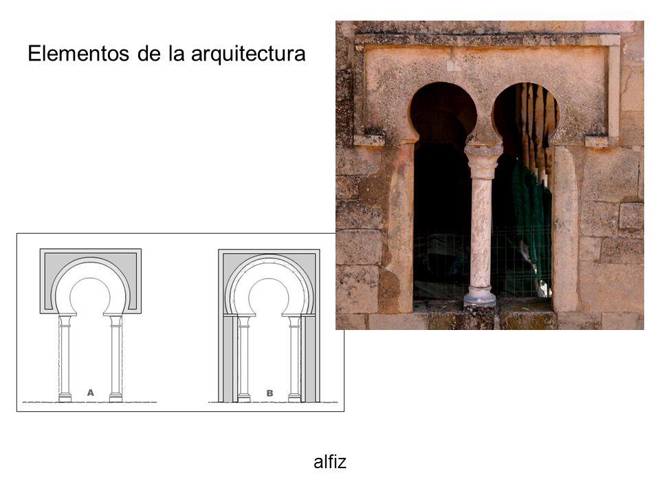 alfiz Elementos de la arquitectura