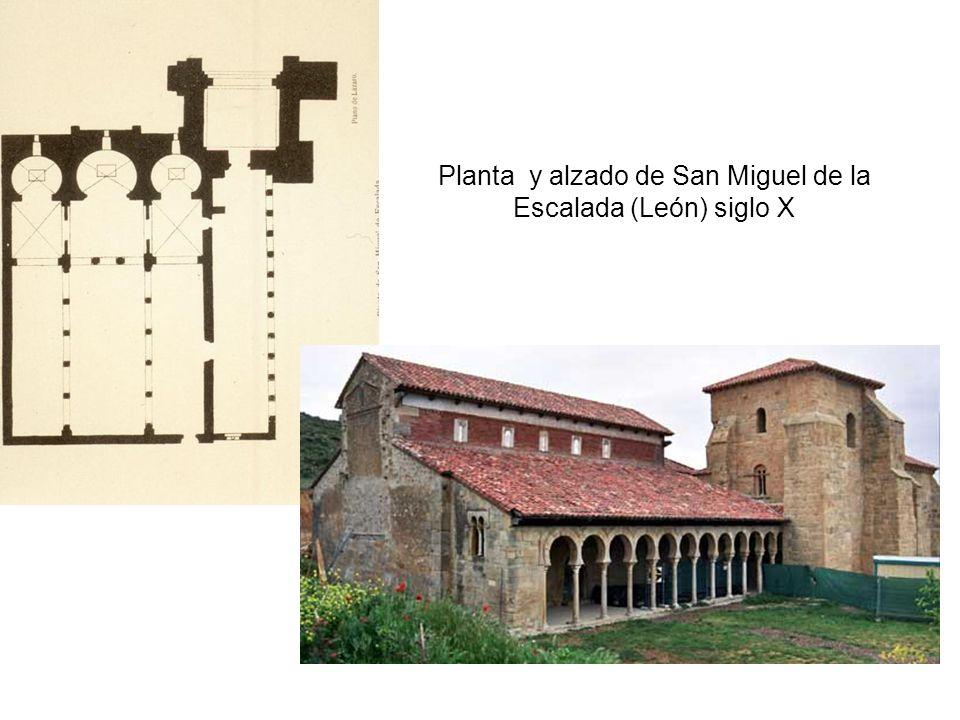 Planta y alzado de San Miguel de la Escalada (León) siglo X