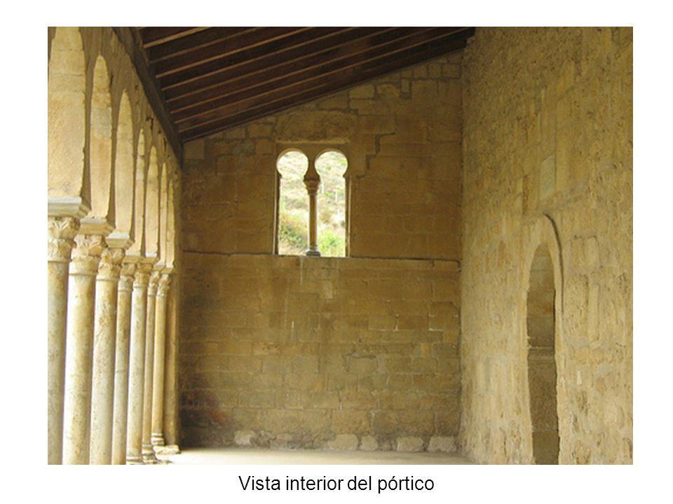 Vista interior del pórtico