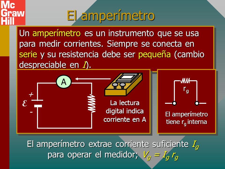 Amperímetro Voltímetro Reóstato Fuente de FEM Reóstato A Amperímetros y voltímetros V FEM - +