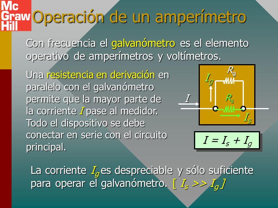 Ejemplo 5. Si 0.05 A causan una desviación de escala completa para el siguiente galvanómetro, ¿cuál es su sensibilidad? 0 10 20 10 20 NS Suponga R g =