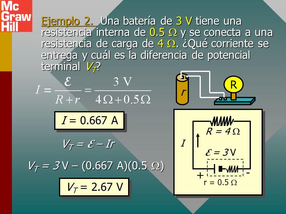 Cómo encontrar la corriente en un circuito simple Ley de Ohm: La corriente I es la razón de fem a resistencia total R + r. La multiplicación cruzada p